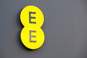 Sign for mobile phone shop EE.