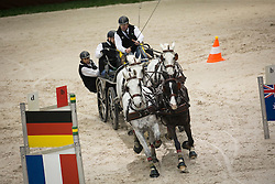 Dobrovitz Jozsef, (HUN), Alex, Conversano VI, Ikar, Kinzhal, Sze<br /> Concours Hippique International de Genève 2014<br /> © Hippo Foto - Dirk Caremans