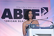 Miami Beach, Florida, NY-June 23: (L-R) Actress Sheral McKinney attends the 2012 American Black Film Festival Winners Circle Awards Presentation held at the Ritz Carlton Hotel on June 23, 2012 in Miami Beach, Florida. (Photo by Terrence Jennings)