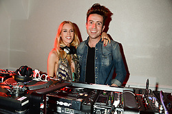 NICK GRIMSHAW and LADY MARY FURZE at the Carrera Ignition Night at The House of St.Barnabas, Soho, London on 20th June 2013.