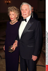 Kirk Douglas Dies At 103 - © Lionel Hahn/ABACA. 24102-8. Los Angeles-CA-USA, 03/03/01. 12th Golden Laurel Awards of the Producers Guild of America. Pictured : Kirk Douglas & wife Anne.
