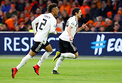 March 24, 2019 - Amsterdam, France - Germany's Nico Schulz celebrates scoring their third goal with Thilo Kehrer (Credit Image: © Panoramic via ZUMA Press)