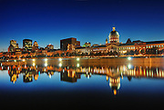 Blue Evening On Old Montreal Skyline, Quebec, Canada