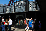 Spook-a-Rama, a dark ride in the Deno's Wonder heel amusement park in Coney Island. First opened in 1955, and renovated and shorted in 2013, it's full of spooks, zombies, and similar horrors designed to frighten riders.