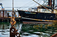 Commercial fishing boats sit at the docks in Cape May, NJ.