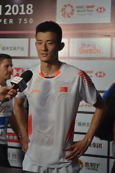 November 10, 2018 - Fuzhou, Fuzhou, China - Fuzhou,CHINA-Chinese badminton player Chen Long defeats Danish badminton player Anders Antonsen 2-0 at 2018 Badminton China Masters in Fuzhou,southeast China's Fujian Province. (Credit Image: © SIPA Asia via ZUMA Wire)