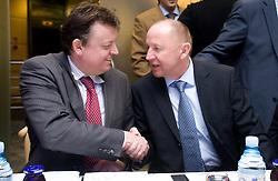 Bosko Srot and Dusan Sesok at Meeting of OKS in Grand hotel Union, on March 23, 2009, Ljubljana, Slovenia. (Photo by Vid Ponikvar / Sportida)