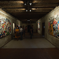 VENICE, ITALY - JUNE 02:  Paintings by Iraqi artist Ahmed Alsoudani is seen at the Iraq pavillion on June 2, 2011 in Venice, Italy. This year's Biennale is the 54th edition and will run from June 4th until 27 November.
