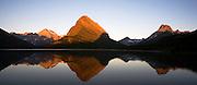 Sunrise on Swiftcurrent Lake. Glacier National Park, Montana.