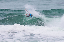Maxime Huscneot (FRA) surfing in Qualifying Round 1 Heat 3 of the WSL Redbull Airborne event in Hossegor, France.