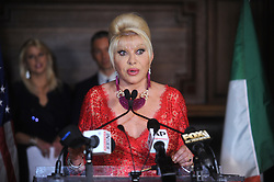 June 13, 2018 - New York, New York, U.S. - Ivana Trump speaks at a press conference announcing her new campaign to fight obesity at The Plaza Hotel. (Credit Image: © SMG via ZUMA Wire)