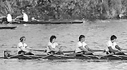 London, Great Britain.<br /> Thames RC, W4- Bow. A.N.OTHER, 2. Beryl MITCHELL/Crockford, Pauline RAYNER ans A.N. OTHER, competing in the <br /> 1986 Fours Head of the River Race, Reverse Championship Course Mortlake to Putney. River Thames. Saturday, 15.11.1986