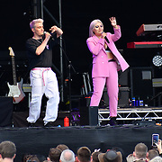 Dusky Grey performs at Kew the Music 2019 on 10 July 2019, London, UK.