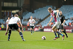 Aston Villa's Nicklas Helenius goes for goal  - Photo mandatory by-line: Nigel Pitts-Drake/JMP - Tel: Mobile: 07966 386802 24/09/2013 - SPORT - FOOTBALL -  Villa Park - Birmingham - Aston Villa v Tottenham Hotspur - Round 3 - Capital One Cup