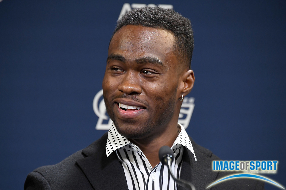 Apr 5, 2018; Thousand Oaks, CA, USA: Los Angeles Rams receiver Brandin Cooks is introduced at press conference at Cal Lutheran.