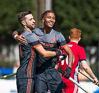 St.-Job-In 't Goor / Antwerpen -  6Nations U23 -  Marlon Landbrug (Ned) heeft gescoord voor Nederland, in een combinatie met Steijn van Heijningen   Nederland Jong Oranje Heren (JOH) - Groot Brittannie .  COPYRIGHT  KOEN SUYK