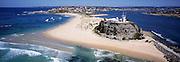 Aerial View of Nobbys Headland, Newcastle, NSW, Australia