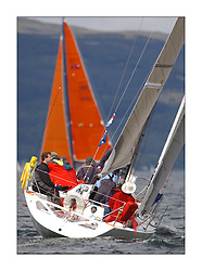 Yachting- The first days inshore racing  of the Bell Lawrie Scottish series 2003 at Tarbert Loch Fyne.  Light shifty winds dominated the racing...IRL3033, Wild Child, Corby, Class 3..Pics Marc Turner / PFM