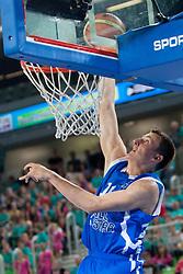 Nikola Jokic (team blue) of Serbia during basketball match U18 All Star Game 2013 at Day 18 of Eurobasket 2013 on September 21, 2013 in SRC Stozice, Ljubljana, Slovenia. (Photo By Urban Urbanc / Sportida)