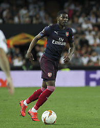 May 9, 2019 - Valencia, Valencia, Spain - Maitland-Niles of Arsenal in action during UEFA Europa League football match, between Valencia and Arsenal, May 09th, in Mestalla stadium in Valencia, Spain. (Credit Image: © AFP7 via ZUMA Wire)