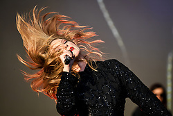 EDITORIAL USE ONLY Taylor Swift performing during the second day of BBC Radio 1's Biggest Weekend at Singleton Park, Swansea.