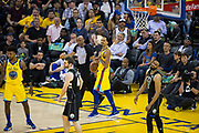 Golden State Warriors guard Shaun Livingston (34) reacts to a turnover against the Milwaukee Bucks at Oracle Arena in Oakland, Calif., on March 29, 2018. (Stan Olszewski/Special to S.F. Examiner)
