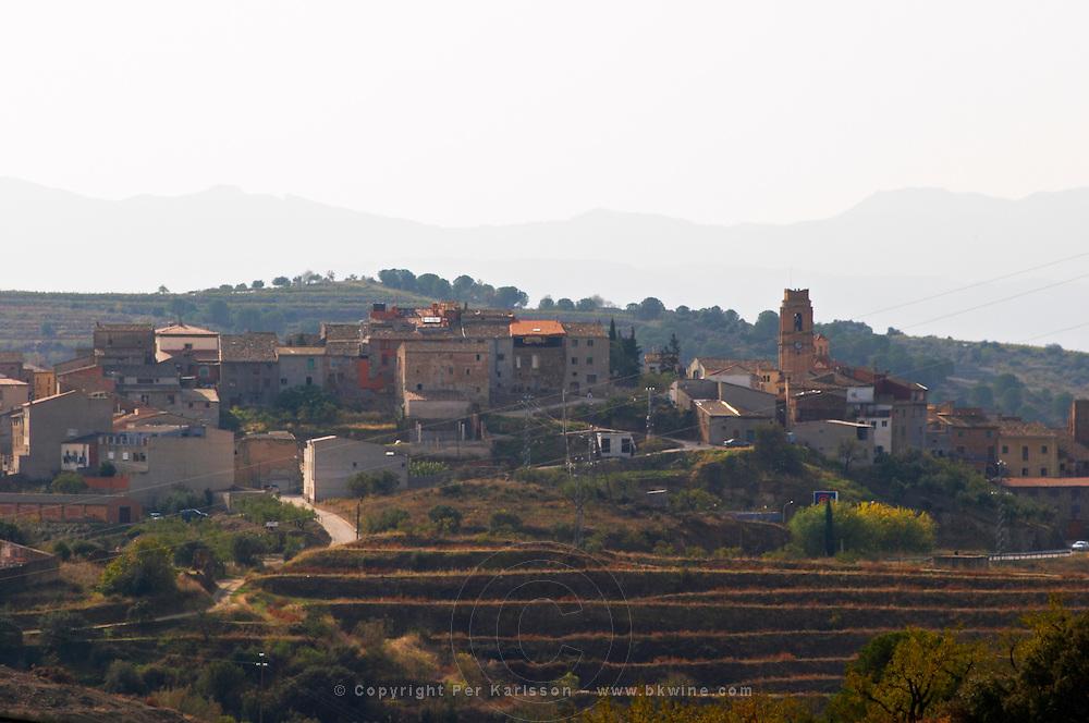 Gratallops village and terraced vineyards. Priorato, Catalonia, Spain
