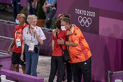 Team Germany, Winter-Schulze Madeleine, GER, Theodorescu Monica, GER, Roemer Klaus, GER<br /> Olympic Games Tokyo 2021<br /> © Hippo Foto - Dirk Caremans<br /> 27/07/2021