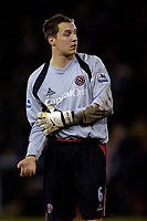Photo: Jed Wee.<br />Sheffield United v Arsenal. The Barclays Premiership. 30/12/2006.<br /><br />An injury to Sheffield United goalkeeper Paddy Kenny sees defender Phil Jagielka take up goalkeeping duties.