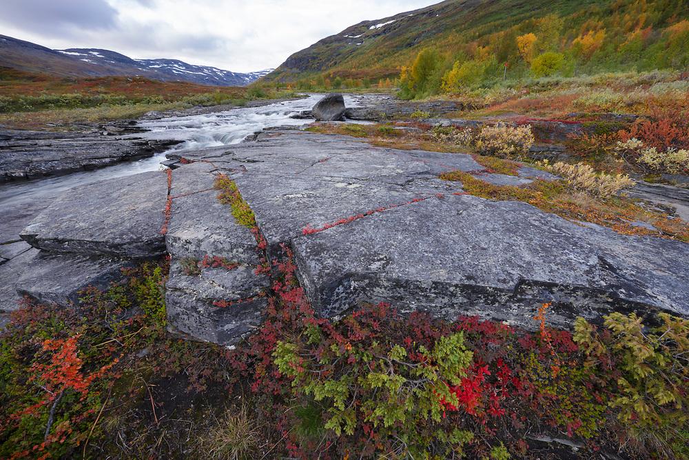 Kaarsajohka river, Kaarsavagge, Abisko National Park, Norrbotten, Lapland, Sweden