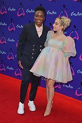 © Licensed to London News Pictures. 25/08/2021. London, UK. NICOLA ADAMS and ELLA BAIG arrives for the gala performance of Andrew Lloyd Webber's Cinderella showing at the Gillian Theatre, Dury Lane. Photo credit: Ray Tang/LNP