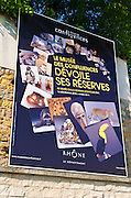 Advertisement at the Museum of the Confluences on Fourvière Hill, Lyon, France (UNESCO World Heritage Site)