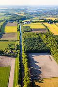 Nederland, Utrecht, Utrechtse Heuvelrug, 27-05-2013; buurtschap en buitengebied De Groep.  Defensiekanaal.<br /> Tijdens de Tweede Wereldoorlog lag de Grebbelinie in dit gebied met oorlogsschade aan boerderijen en landerijen als gevolg. Herstel en ruilverkaveling na de oorlog, wederopbouwgebied.<br /> The Grebbe Line (defense linein World War II ) ran through this area. After the war repair of destroyed farm lands and farms took place  as well as land consolidation in the context of the Reconstruction.<br /> luchtfoto (toeslag op standard tarieven)<br /> aerial photo (additional fee required)<br /> copyright foto/photo Siebe Swart
