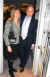 PEREGRINE & CAROLINE ARMSTRONG-JONES, he is the half-brother of the Earl of Snowdon at a party hosted American House and Garden magazine with Tomasz Starzewski and Nina Campbell to celebrate the British Issue of the magazine, held at 14 Stanhope Mews West, London SW7 on 13th March 2005.<br />