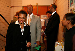 May 10th, 2006. New Orleans, Louisiana. Mayor Ray C Nagin and his wife leave the Sabis Academy Charter school in Uptown New Orleans. after a mayoral debate with Louisiana lieutenant governor Mitch Landrieu at the Audubon Institute Riverside association.<br /> Photo; Charlie Varley/varleypix.com