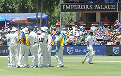 Pretoria 26-12-18. The 1st of three 5 day cricket Tests, South Africa vs Pakistan at SuperSport Park, Centurion. Day 1. Pakistan batsman Asad Shafiq walks past the Preotes team after his wicket fell for LBW by South African bowler Duanne Olivier. Picture: Karen Sandison/African News Agency(ANA)