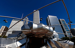 The Frank Gehry designed Jay Pritzker Pavilion in Millennium Park, Chicago