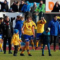 Jervs Glenn Andersen feirer serien etterra kvalik kampen til Eliteserien med Jerv-Kongsvinger 2-1 på Levermyr stadion i Grimstad.