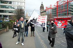 Demonstrators outside the Liberal Democrat party Conference in Sheffield Friday Afternoon.11 March 2011.Images © Paul David Drabble