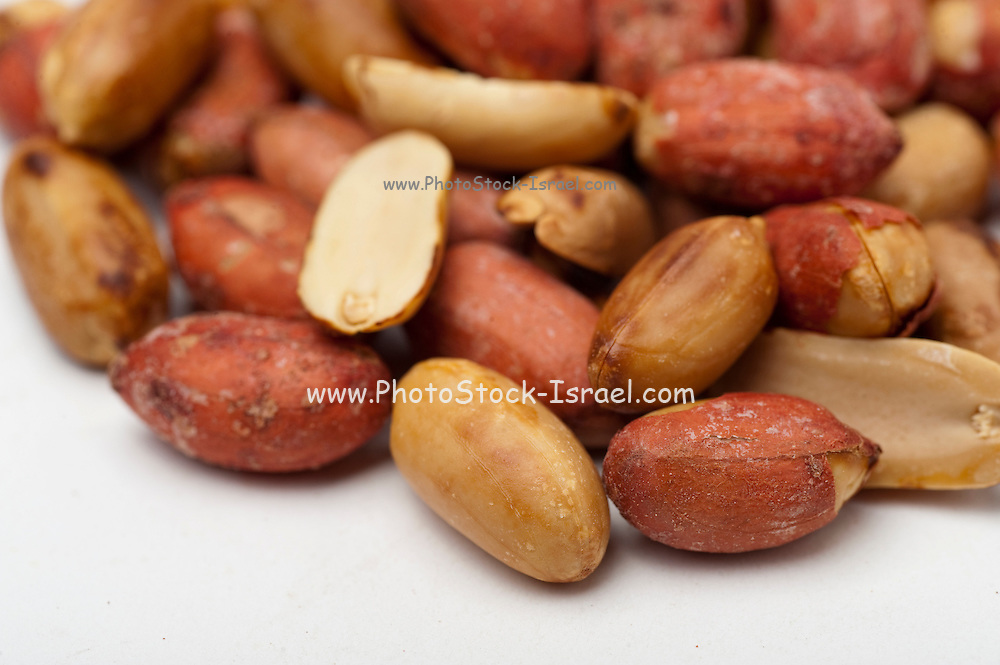 Shelled Peanuts On white Background