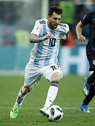 Lionel Messi of Argentina during the 2018 FIFA World Cup Russia group D match between Argentina and Croatia at the Novgorod stadium on June 21, 2018 in Nizhny Novgorod, Russia