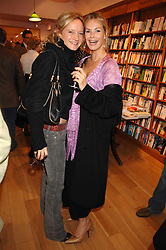 Left to right, LARA CAZALET and EMMA WOOLARD at a party to celebrate the publication of 'The Umbrella of Faith' by Willie Stirling held at the Daunt Bookshop, Holland Park Road, London W11 on 27th November 2007.<br /><br />NON EXCLUSIVE - WORLD RIGHTS