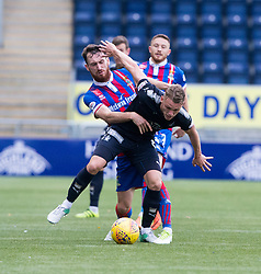 Inverness Caledonian Thistle's Joe Chalmers and Falkirk's Joseph McKee. Falkirk 0 v 0 Inverness Caledonian Thistle, Scottish Championship game played 14/10/2017 at The Falkirk Stadium.