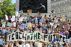 May 24, 2019 - London, UK, UK - London, UK. Hundreds of students rally in Trafalgar Square for Youth Strike 4 Climate Change Protest demanding the UK Government to declare a climate emergency. (Credit Image: © Dinendra Haria/London News Pictures via ZUMA Wire)