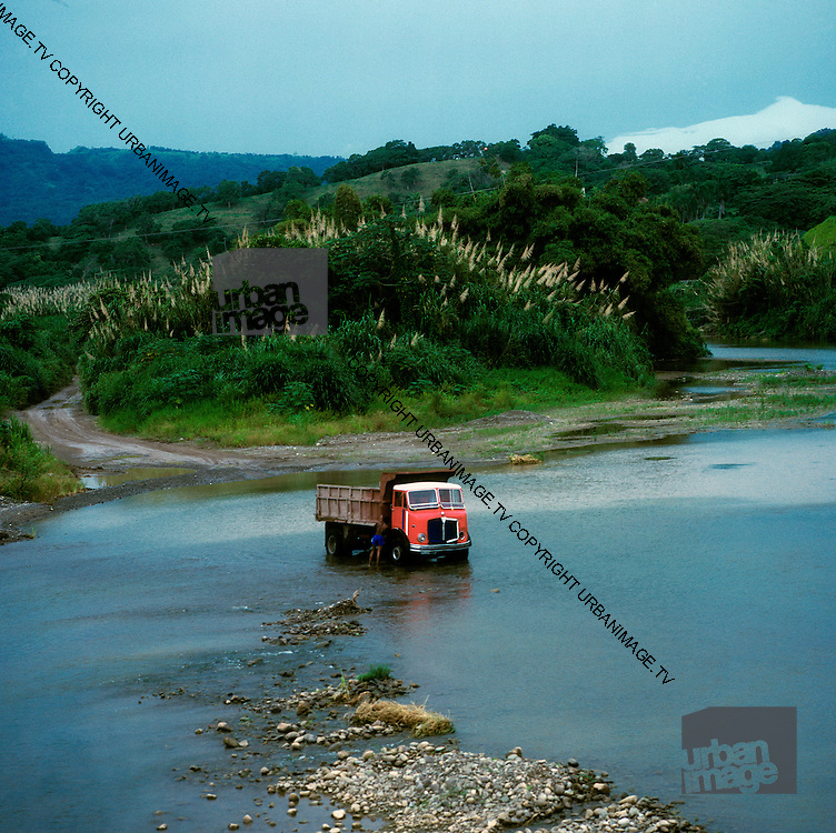 Washing Lorry in River - Annotto Bay