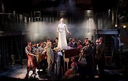 Ragtime <br /> Book by Terrence Mcnally <br /> Music by Stephen Flaherty <br /> Lyrics by Lynn Ahrens<br /> at Charing Cross Theatre <br /> Press photocall<br /> 14th October 2016<br /> directed by Thom Sutherland <br /> <br /> <br /> <br /> Anita Louise Combe <br /> as Mother <br /> <br /> and company <br />  <br /> <br /> Photograph by Elliott Franks <br /> Image licensed to Elliott Franks Photography Services