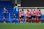 GOAL 0-2 during the EFL Sky Bet League 1 match between AFC Wimbledon and Sunderland at Plough Lane, London, United Kingdom on 16 January 2021.