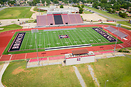Mustang Broncos High School Football Stadium in Mustang, Oklahoma on Thursday, July 9, 2020. Photo copyright © 2020 Alonzo Adams.