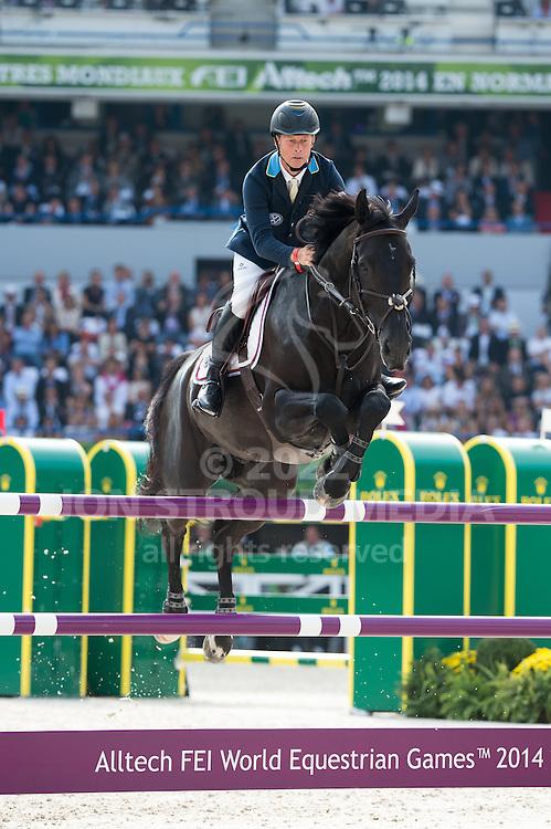 Rolf-Goran Bengtsson, (SWE), Cortes C - Show Jumping Final Four - Alltech FEI World Equestrian Games™ 2014 - Normandy, France.<br /> © Hippo Foto Team - Jon Stroud<br /> 07/09/2014