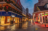 Early morning on Bourbon Street in the French Quarter in New Orleans, Louisiana, USA
